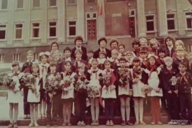 Групповое фото класса, в котором училась Фатима Шеуджен.