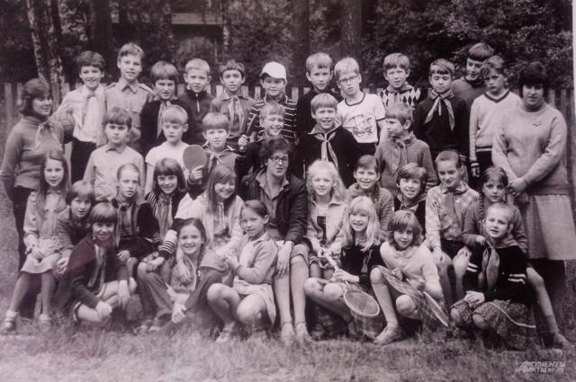 Отдых в пионерском лагере им Гагарина, п. Вецаки, Латвия.