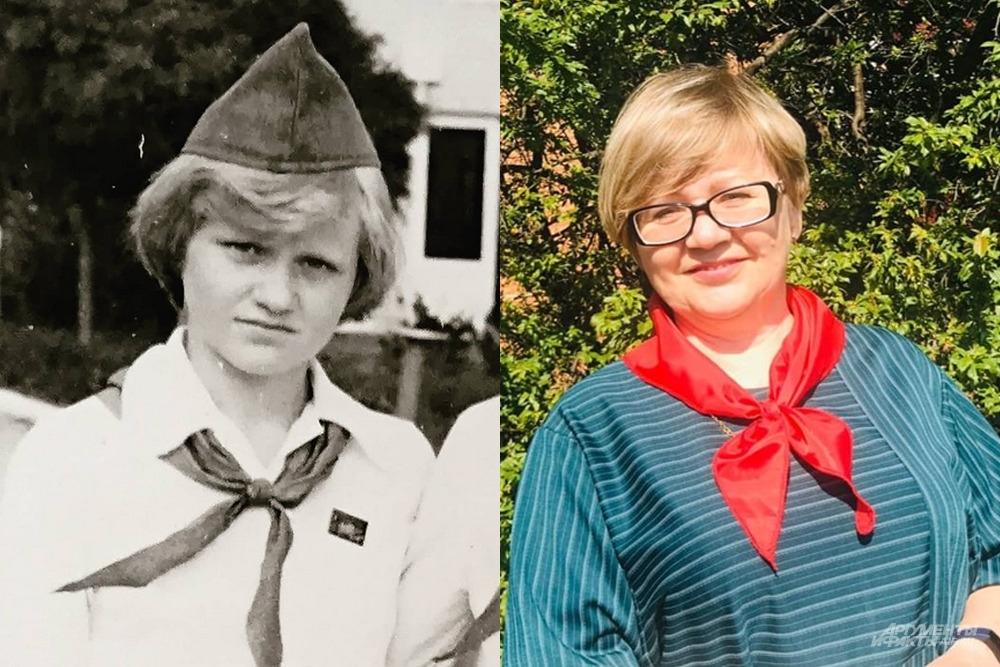 Ольга Аленева в пионерском галстуке - 40 лет спустя