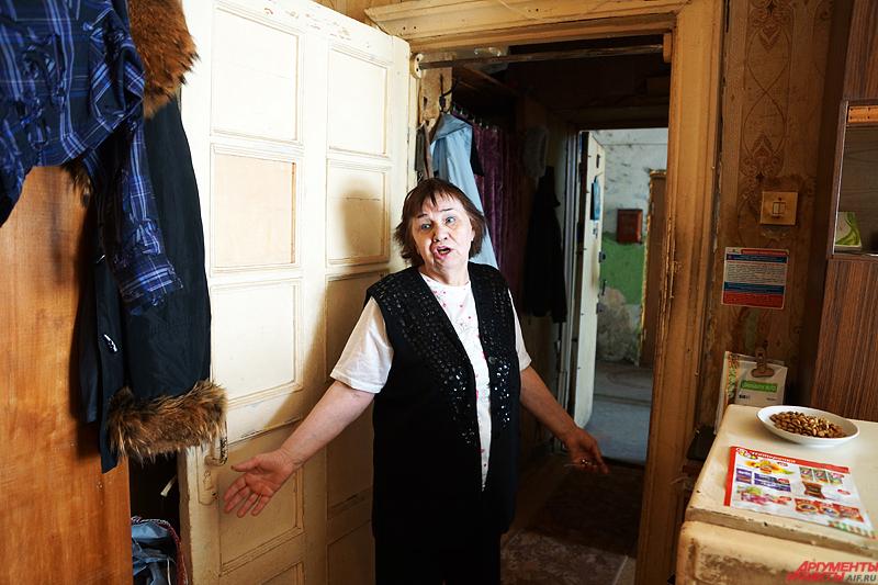 Одна из жительниц дома Галина Уткина