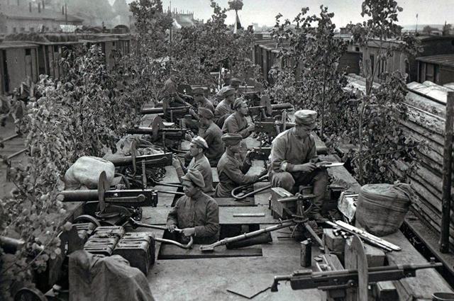 Бронепоезд «Орлик». Пензенская группировка чехословаков. Уфа, июль 1918 года.