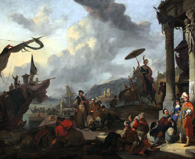 Иоганн Лингельбах. Средиземноморская гавань.