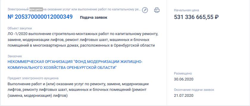 30 июня на сайте госзакупок был размещен электронный аукцион на оказание услуг.