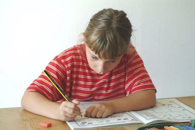 Ребенок, уроки, домашнее задание