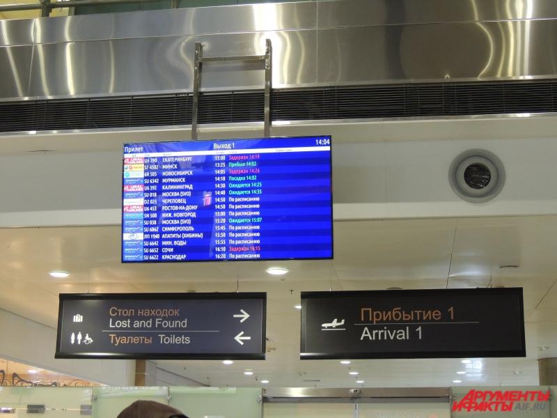 После страшной новости информацию о рейсе убрали с электронных табло Пулково.