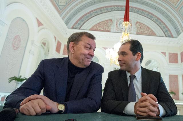 Директор Большого театра Владимир Урин и новый музыкальный руководитель главный дирижер Большого театра Туган Сохиев