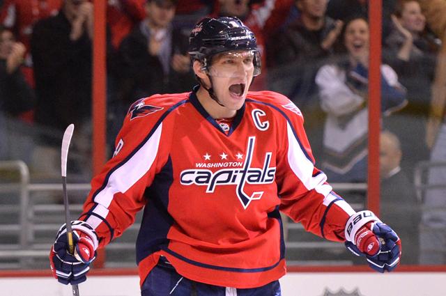 Александр Овечкин в матче регулярного чемпионата НХЛ. 2013 год