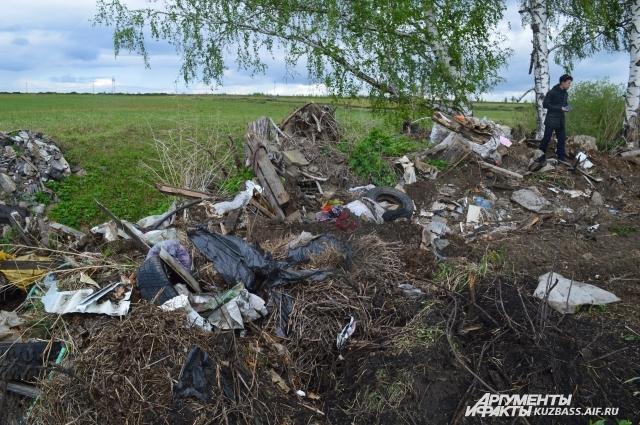 Эта свалка находится в двух километрах от д. Журавлёво. Чего здесь только нет: строительный мусор, куча пивных бутылок, мебель, одежда – и всё на фоне берёзок, одуванчиковых полей и чистого неба. Частнику или фирме, чтобы вывезти со стройки огромный контейнер мусора, который может привезти и увезти САХ, нужно 2,5 тыс. рублей. А муниципалитету, чтобы ликвидировать самую скромную свалку, - минимум 70 тыс. Такая получается частная экономия.