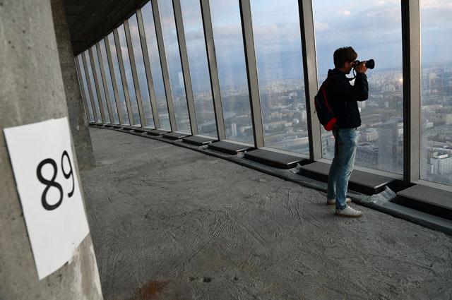 89-ый этаж восточной башни «Федерация» комплекса Москва-сити
