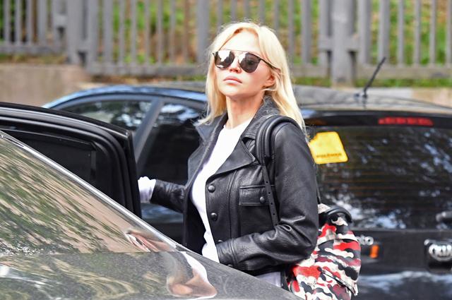 Супруга футболиста Александра Кокорина, признанного виновным в хулиганстве и побоях, Дарья Валитова. 8 мая 2019 г.