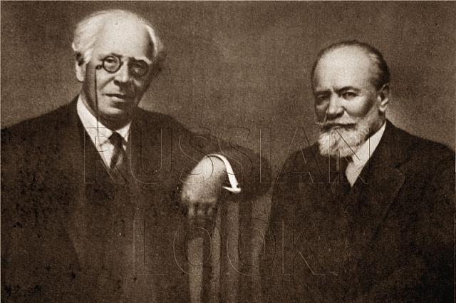 Константин Станиславский и Владимир Немирович-Данченко (справа)