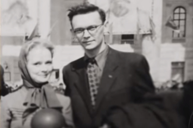Леонид Гайдай и Нина Гребешкова.