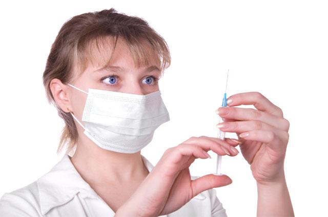 Прививка, шприц, медсестра, врач