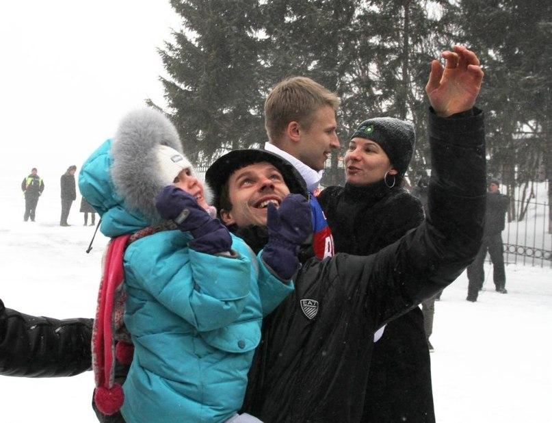 Евгений Устюгов с дочерью.