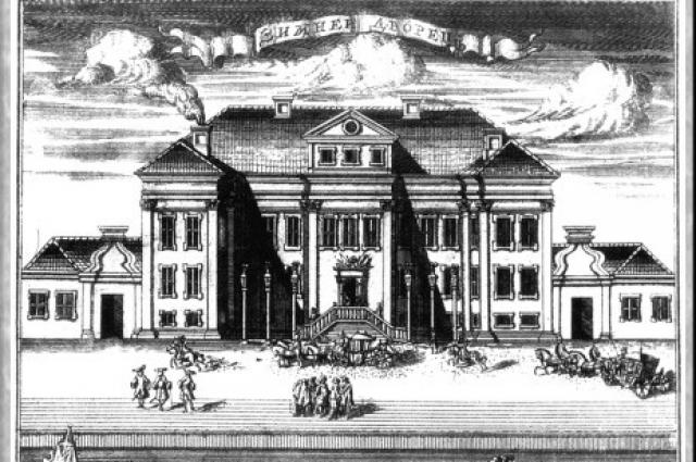 Над строительством Зимнего дворца трудились тысячи рабочих.