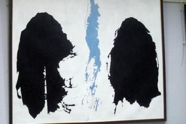 Ранее не известная картина Васильева - абстрактная композиция №12.