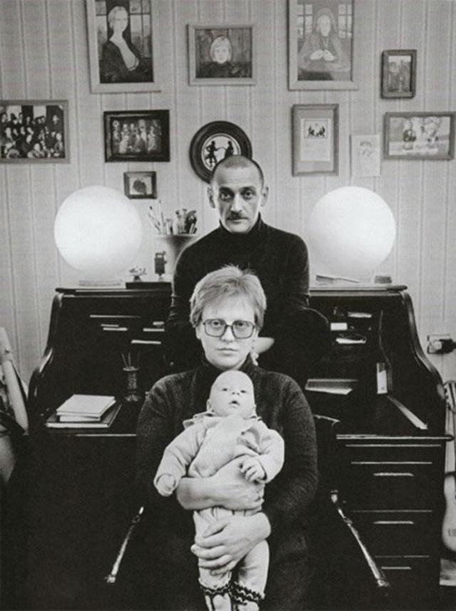 Светлана Крючкова, Юрий Векслер и их сын Дмитрий.