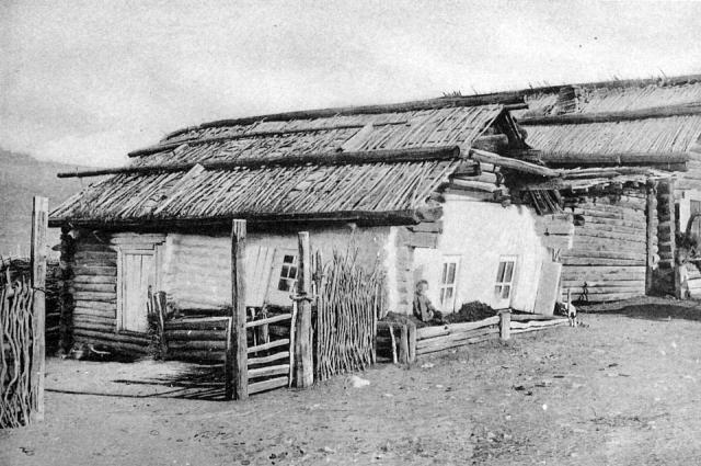 Благодатский рудник. Дом, где жили княгини М. Н. Волконская и Е. И. Трубецкая. 1889.