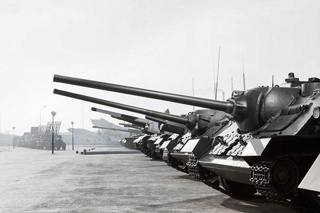 Самоходные установки Музея военной техники УГМК.