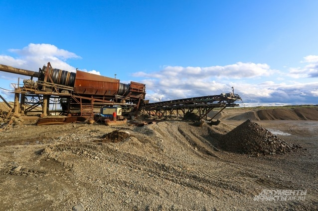 Участок по добыче золота может занимать несколько гектаров