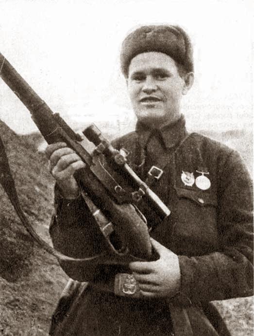 Василий Зайцев в Сталинграде, октябрь 1942 года