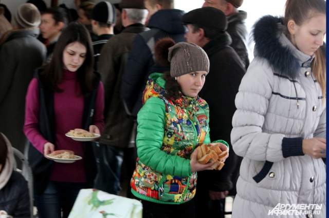 ПВР Парус Неклиновского района новый лагерь, в который беженцы заселились в 20-х числа января 2015 года