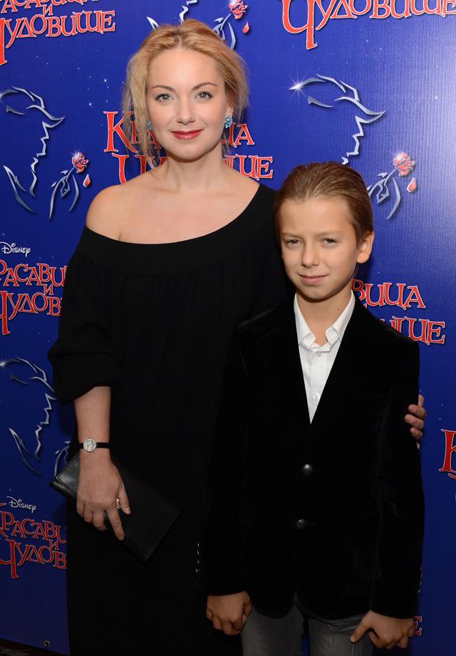 Ольга Будина с сыном Наумом, 2014 год