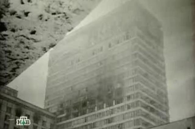Пожар в гостинице Россия
