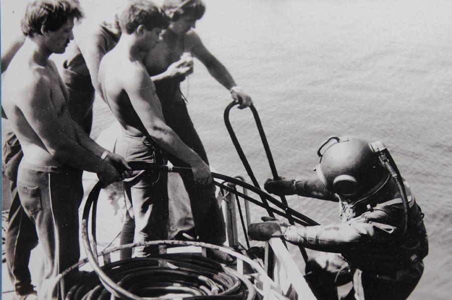 Подводная экспедиция к фрегату «Паллада», 1989 год.