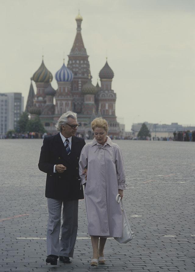 Сергей Бондарчук с супругой актрисой Ириной Скобцевой, 1980 г.