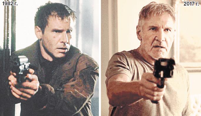 Между выходом фильмов «Бегущий по лезвию-1» и «Бегущий по лезвию-2» прошло 35 лет, но Харрисон Форд по-прежнему мачо.