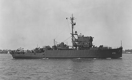 Однотипный трём кораблям конвоя БД-5 тральщик.