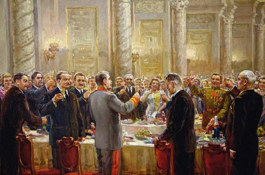 Сталин пил мало, в основном произносил тосты. И держал себя в хорошей форме.