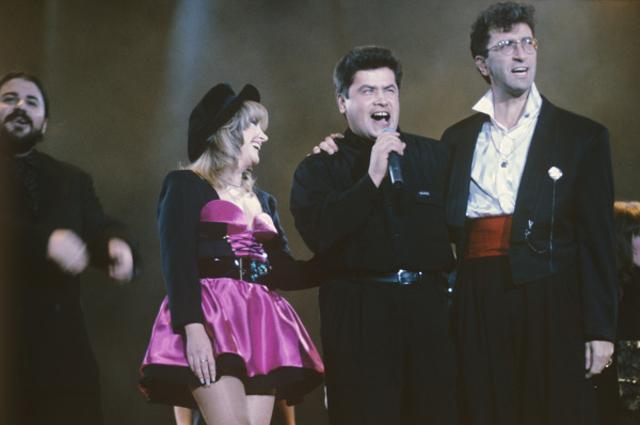 На концерте «Рождественские встречи» в спорткомплексе «Олимпийский», 1992 год