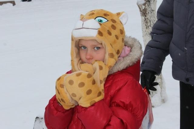 Участница встречи олимпийского огня в Оренбурге