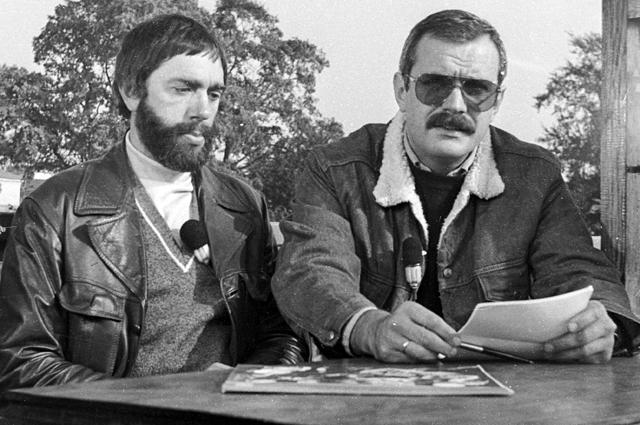 Композитор Эдуард Артемьев и кинорежиссер Никита Михалков. 1982 г.