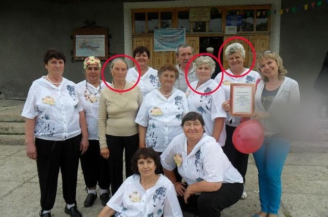 Валентина Попова, Лидия Афанасьева, Светлана Гетманова (слева направо, лица выделены). Фото предоставлено бывшим руководителем коллектива Анной Суховой.