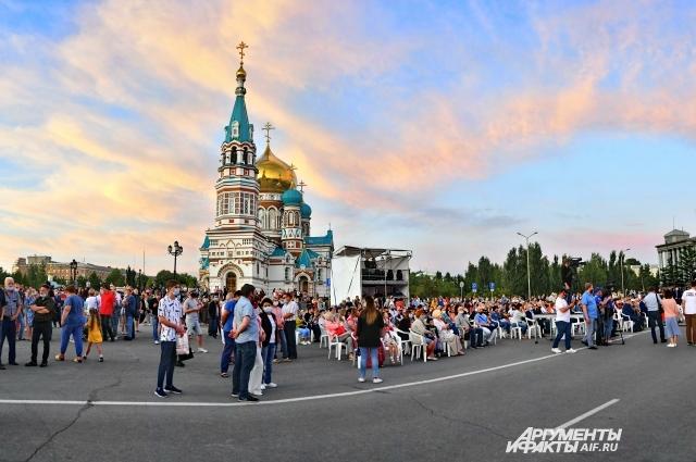 В областном центре организовали большой концерт.
