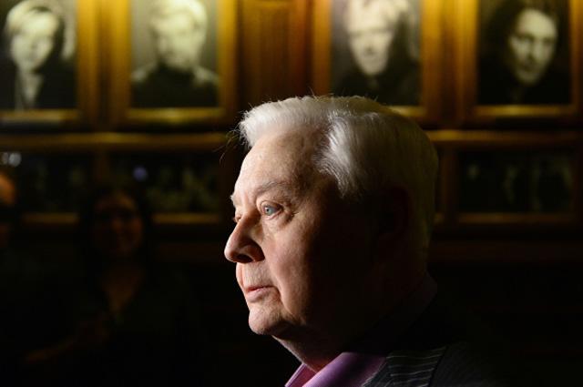 Художественный руководитель, директор МХТ имени А.П. Чехова Олег Табаков. 2014 год