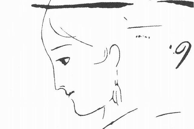 Анна Керн. Рисунок Пушкина. 1829