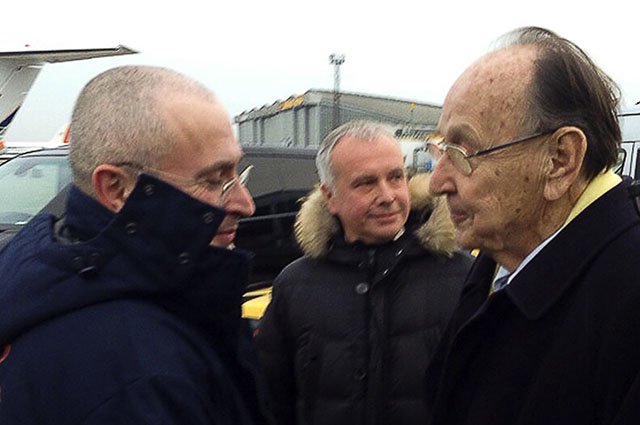 Михаил Ходорковский и экс-глава МИД Германии Ганс-Дитрих Геншер