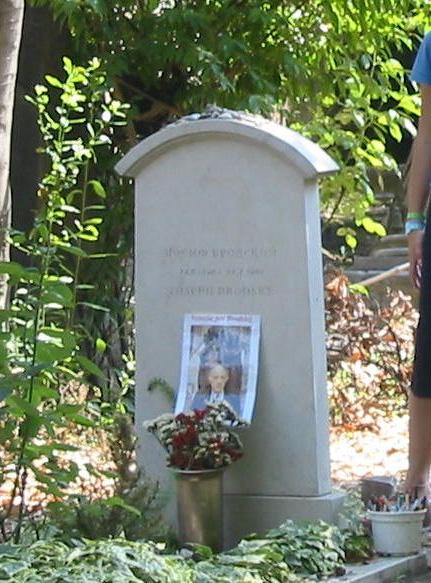 Могила Иосифа Бродского находится на кладбище Сан-Микеле.