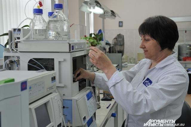 1 млн анализов производит за год лаборатория.