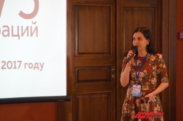 Инна Злотникова рассказывает о достижениях клиники.