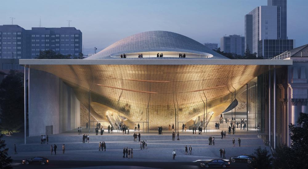 Проект филармонии компании Zaha Hadid Architects
