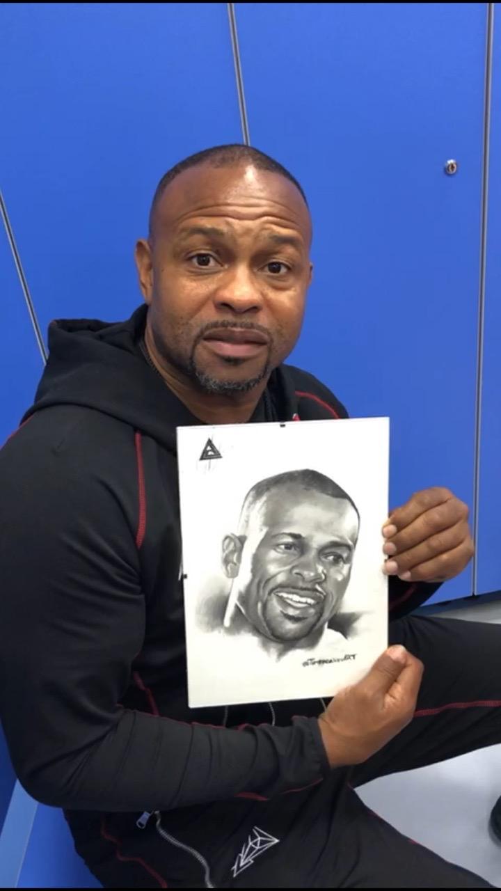 портрет для боксера Роя Джонса