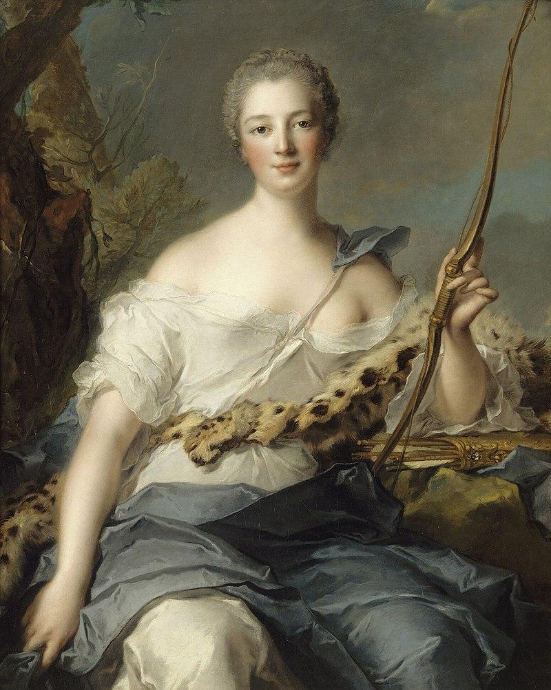 Жан-Марк Натье. Мадам де Помпадур в образе Дианы-охотницы
