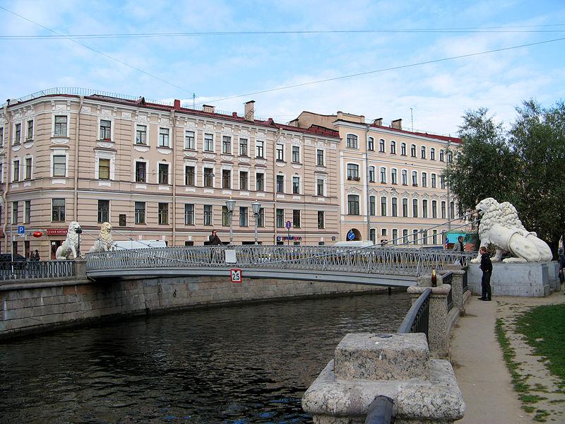Львиный мост, канал Грибоедова, мосты Петербурга