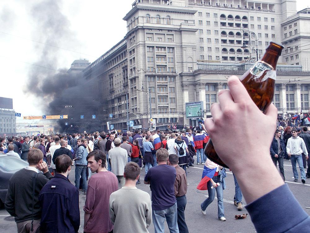 Массовые беспорядки на манежной площади в 2002 г.