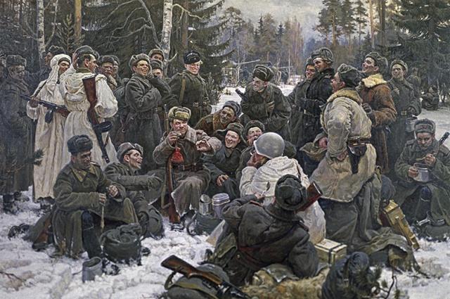 Картина, которая попала в Советском Союзе даже на почтовые марки.